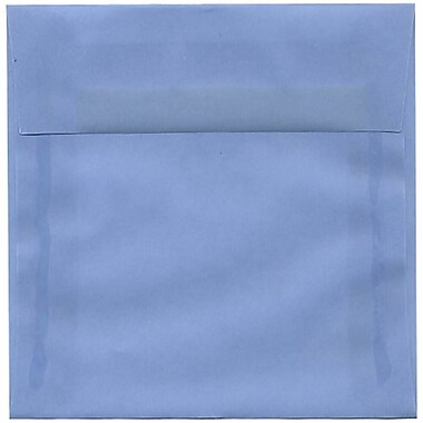 JAM Paper® 6 x 6 Square Envelopes, Surf Blue Translucent Vellum, 250/Pack (1591925H)