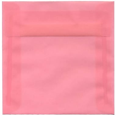 JAM Paper® 6 x 6 Square Envelopes, Blush Pink Translucent Vellum, 50/Pack (1591931I)