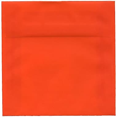JAM Paper – Enveloppes carrées translucides, 6 x 6 po, orange, 50/paquet