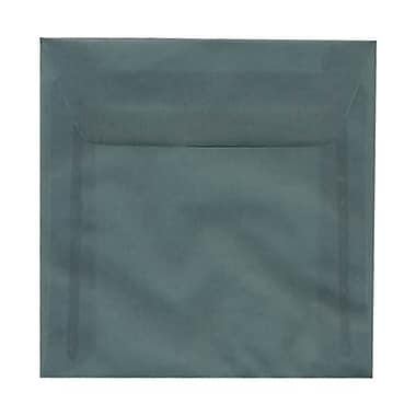 JAM Paper® 6.5 x 6.5 Square Envelopes, Ocean Blue Translucent Vellum, 50/Pack (1592117I)