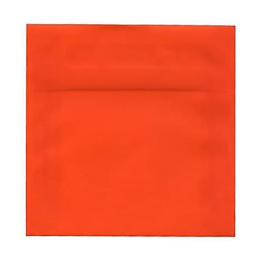 JAM Paper® 6.5 x 6.5 Square Envelopes, Glamour Orange Translucent Vellum, 250/Pack (1592120H)