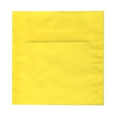 JAM Paper® 9.5 x 9.5 Square Envelopes, Yellow Translucent Vellum, 50/Pack (1592138I)