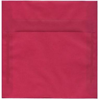 JAM Paper – Enveloppes carrées translucides de 8,5 x 8,5 po, rose magenta, 50/paquet