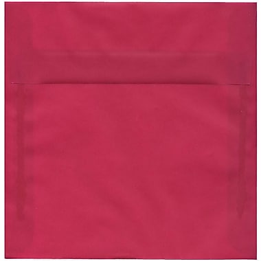 JAM Paper – Enveloppes carrées translucides, 8,5 x 8,5 po, rose magenta, 250/paquet