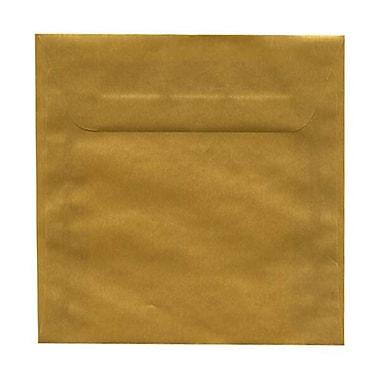 JAM Paper® 6.5 x 6.5 Square Envelopes, Gold Translucent Vellum, 50/Pack (1594761I)