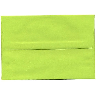 JAM Paper® A8 Invitation Envelopes, 5.5 x 8.125, Brite Hue Ultra Lime Green, 250/Pack (15955H)