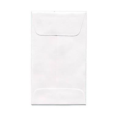 JAM Paper® #3 Coin Envelopes, 2.5 x 4.25, White, 250/Pack (1623183H)