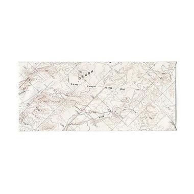 JAM Paper – Enveloppes nº 10 (4,13 po x 9,5 po), motif carte géographique, 500/paq.