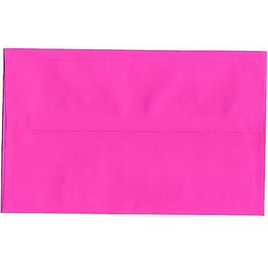 JAM Paper® A10 Invitation Envelopes, 6 x 9.5, Brite Hue Ultra Fuchsia Pink, 250/Pack (16577H)