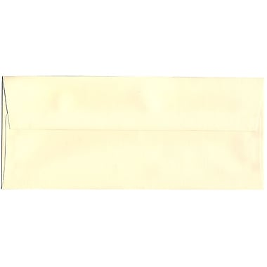 JAM Paper® #10 Business Envelopes, 4 1/8 x 9.5, Strathmore Ivory Laid, 500/Pack (17877H)