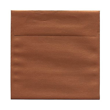 JAM Paper® 6 x 6 Square Envelopes, Stardream Metallic Copper, 250/Pack (184392H)