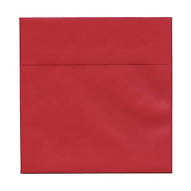 JAM Paper® 6 x 6 Square Envelopes, Stardream Metallic Jupiter Red, 250/Pack (184777H)