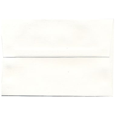 JAM Paper® A8 Invitation Envelopes, 5.5 x 8.125, Strathmore Bright White Pinstripe Recycled, 250/Pack (191212H)