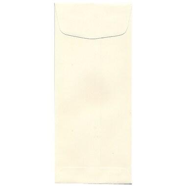 JAM Paper – Enveloppe commerciale Strathmore nº 10 (4,13 po x 9,5 po) en papier vélin, blanc naturel, 500/paq.