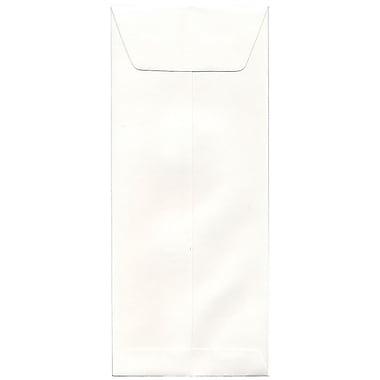 JAM Paper – Enveloppes blanches Strathmore nº 12 (4,75 x 11 po), vélin blanc lumineux, 500/pqt
