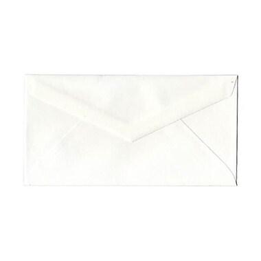 JAM Paper – Enveloppes Strathmore à rabat en V, n° 7,75, 3,88 x 7,5 po, vélin banc lumineux, 500/paquet