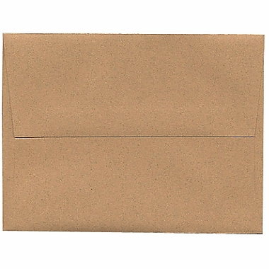 JAM Paper® A2 Invitation Envelopes, 4.38 x 5.75, Ginger Brown Recycled, 250/Pack (21545H)