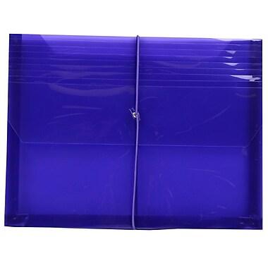 JAM Paper – Enveloppe de plastique à extension, fermeture élastique, violet, 12/paquet