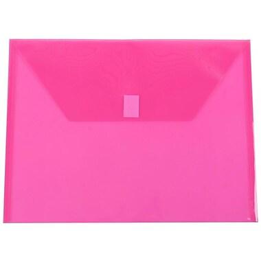 JAM Paper - Enveloppes en plastique/poly, 9 3/4 po x 6 13/4 po, format lettre, fuchsia, paq./24