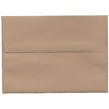 JAM Paper® A7 Invitation Envelopes, 5.25 x 7.25, Fossil Brown Recycled, 250/Pack (22725H)