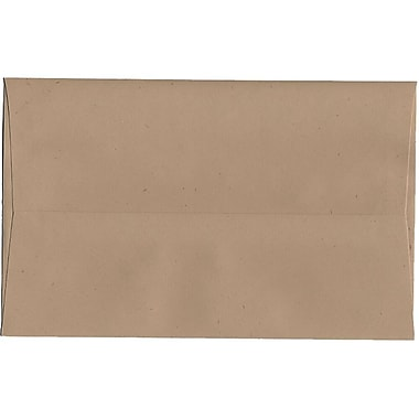 JAM Paper® A10 Invitation Envelopes, 6 x 9.5, Fossil Brown Recycled, 250/Pack (22753H)