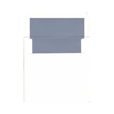 JAM Paper – Enveloppes à intérieur en papier métallisé, 5,75 x 5,75 (po), blanches/intérieur bleu métallique, 250/paq.