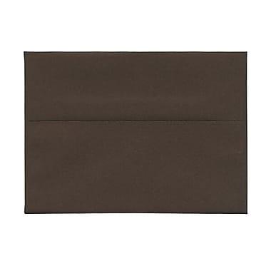 JAM Paper – Enveloppes A7 en papier recyclé, brun chocolat, 250/paquet
