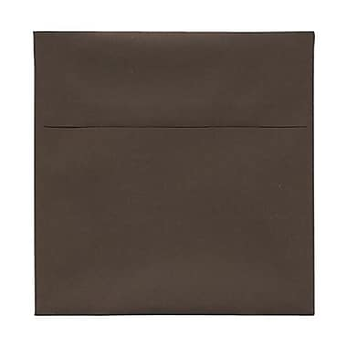 JAM Paper® 6 x 6 Square Envelopes, Chocolate Brown Recycled, 250/Pack (234680H)