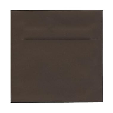JAM Paper® 8.5 x 8.5 Square Envelopes, Chocolate Brown Recycled, 250/Pack (234681H)