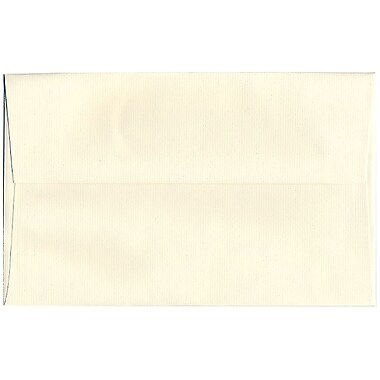 JAM Paper – Enveloppes Strathmore A10, fini vergé blanc naturel, 250/paquet