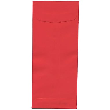 JAM Paper® #10 Policy Envelopes, 4 1/8 x 9.5, Brite Hue Red Recycled, 500/Pack (25048H)