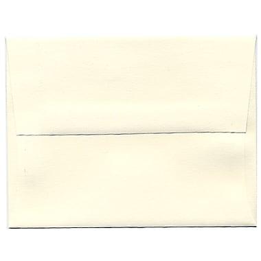 JAM Paper® A2 Invitation Envelopes, 4.38 x 5.75, Strathmore Natural White Laid, 250/Pack (26094H)