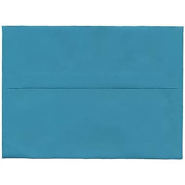 JAM Paper® A7 Invitation Envelopes, 5.25 x 7.25, Brite Hue Sea Blue Recycled, 250/Pack (27785H)