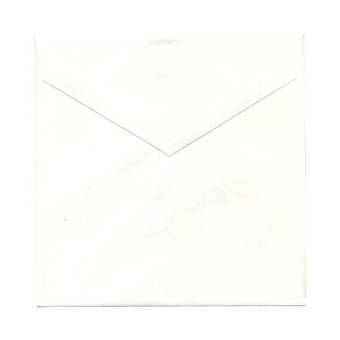 JAM Paper® 7.5 x 7.5 Square Envelopes, Natural White with V-Flap, 250/Pack (27912565H)