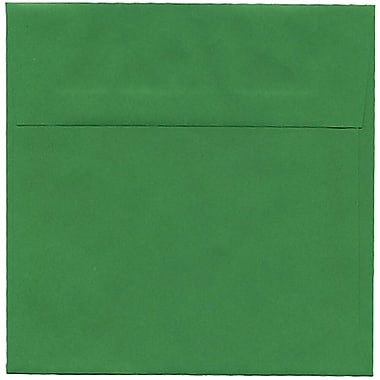 JAM Paper® 6 x 6 Square Envelopes, Brite Hue Green Recycled, 250/Pack (2792267H)