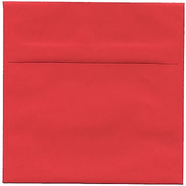 JAM Paper® 6 x 6 Square Envelopes, Brite Hue Red Recycled, 250/Pack (2792270H)