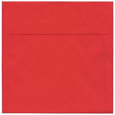 JAM Paper® 7.5 x 7.5 Square Envelopes, Brite Hue Red Recycled, 50/Pack (2792291I)