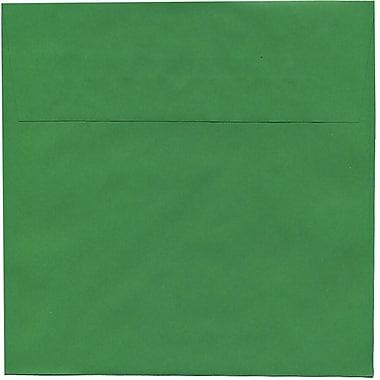 JAM PaperMD – Enveloppes carrées Brite Hue de 8,5 po en papier recyclé, vert festif, 50/paquet