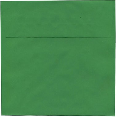 JAM Paper® 8.5 x 8.5 Square Envelopes, Brite Hue Christmas Green, 50/Pack (2792295I)