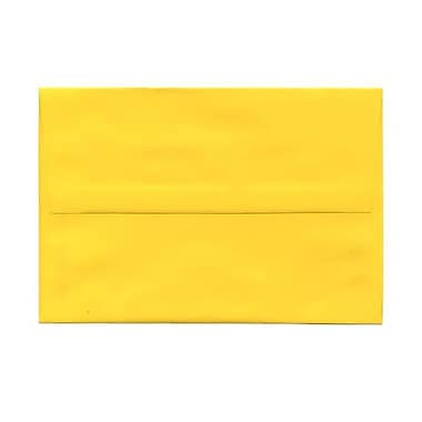 JAM Paper® A10 Invitation Envelopes, 6 x 9.5, Brite Hue Yellow Recycled, 250/Pack (28038H)