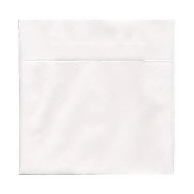 JAM PaperMD – Enveloppes carrées de 7,5 x 7,5 po, blanc, 50/paquet