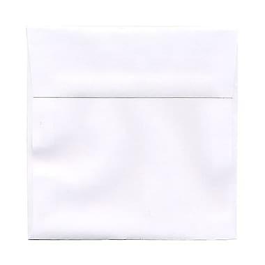 JAM Paper – Enveloppes carrées, 6 x 6 (po), blanches, 250/paq.