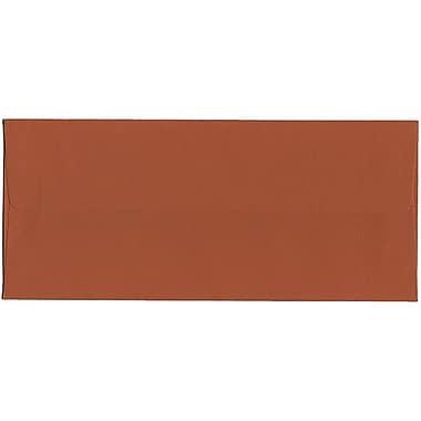 JAM Paper – Enveloppes foncées nº 10 en papier brut (4,13 x 9,5 po), orange foncé, boîte de 500