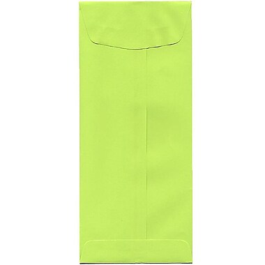 JAM Paper® #11 Policy Envelopes, 4.5 x 10.38, Brite Hue Lime Green, 500/Pack (3156392H)