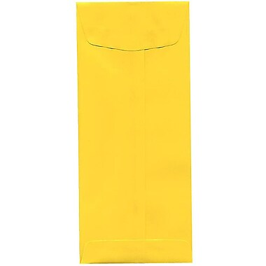 JAM Paper® #11 Policy Envelopes, 4.5 x 10.38, Brite Hue Yellow Recycled, 500/Pack (3156393H)