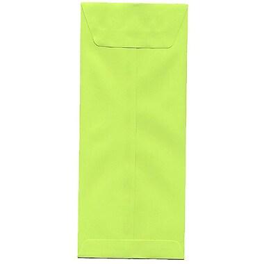 JAM Paper – Enveloppes recyclées Brite Hue nº 12 (4,75 x 11 po), lime intense, 500/bte
