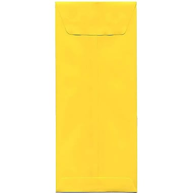 JAM Paper® #12 Policy Envelopes, 4.75 x 11, Brite Hue Yellow Recycled, 500/Pack (3156400H)