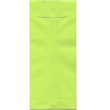 JAM PaperMD – Enveloppes en papier recyclé Brite Hue no 14 (5 x 11,5 po), lime intense, 500/paquet