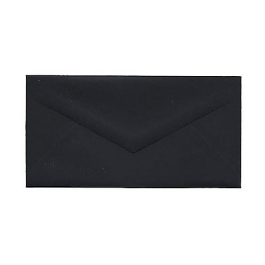 JAM Paper® Monarch Envelopes, 3.88 x 7.5, Black Linen Recycled , 500/Pack (317572H)