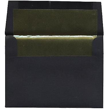 JAM Paper – Enveloppes A6 en papier recyclé noir à revers doré, 250/paquet